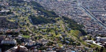日米で返還が合意されている米軍根岸住宅地区=2010年10月