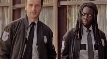 Rick and Michonne debate forgoing their guns in a 'Walking Dead' deleted scene