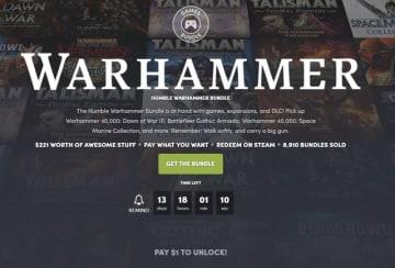 『Warhammer』シリーズなどが1ドルから!「The Humble Warhammer Bundle」開始