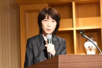 東京医大の林由起子学長(2018年11月7日、東京都新宿区)