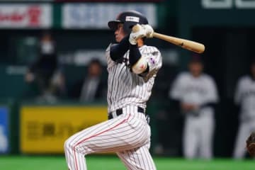3番二塁で先発した侍ジャパン・山田哲人【写真:Getty Images】