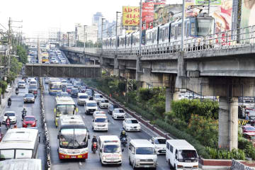 Traffic congestion in Manila