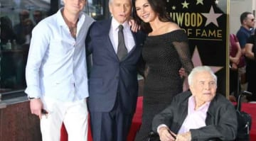 Michael Douglas Gets Star On Hollywood Walk Of Fame, Joined By Son Cameron, Wife Catherine & Dad Kirk