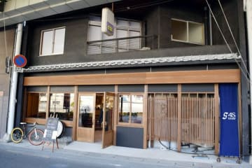 商店街に面した「4S STAY阿波池田駅前」=三好市池田町サラダ