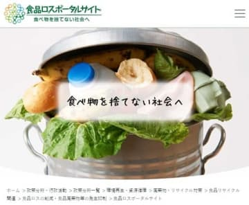 環境省の食品ロスポータルサイト