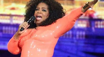 Oprah Sells Klimpt For $150 million: MELBOURNE, AUSTRALIA - DECEMBER 02: Oprah Winfrey on stage during her An Evening With Oprah tour on December 2, 2015 in Melbourne, Australia. (Photo by Scott Barbour/Getty Images)