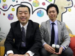 来社した三浦専務取締役、星野南米エリアマネージャー