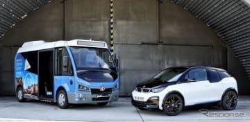カルサン社の小型EVバス JestとBMW i3