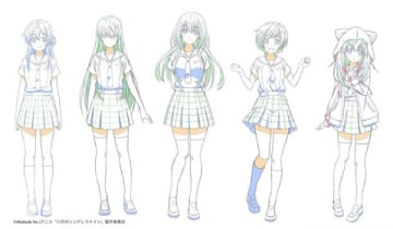 テレビアニメ「八月のシンデレラナイン」のキャラクタービジュアル
