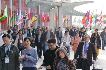 中国国際輸入博、団体客公開日迎える