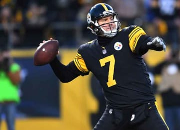 PITTSBURGH, PA - DECEMBER 25: Ben Roethlisberger #7 of the Pittsburgh Steelers drops back to pass in the first half during the game against the Baltimore Ravens at Heinz Field on December 25, 2016 in Pittsburgh, Pennsylvania. (Photo by Joe...