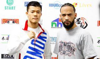 亀田和毅(左)と暫定王座を争うのは19勝(10KO)3敗2分の戦績を持つメディナ(右)
