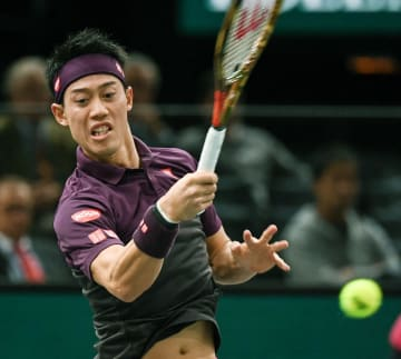 Tennis: Nishikori at Paris Masters