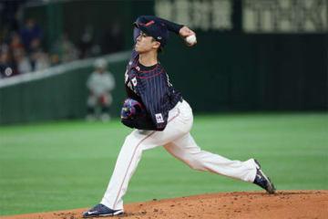 MLBオールスターを相手に快投した侍ジャパン・上沢直之【写真:Getty Images】