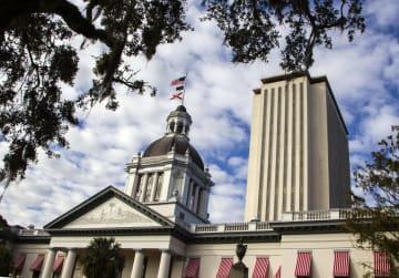 米フロリダ州の庁舎=10日(ゲッティ=共同)