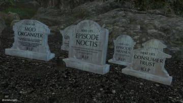『FFXV』開発中止となったDLCを追悼する墓碑ModがSteamワークショップにて公開─安らかに眠れ…