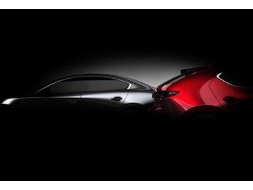 マツダが2018年11月30日から一般に開幕となるロサンゼルス自動車ショーに先駆けて、公開した新型「Mazda3」のイメージカット