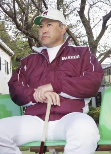 取材に応じる、早大野球部監督に就任する小宮山悟氏=11日、東京都内