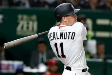MLBオールスターチームのJT・リアルミュート【写真:AP】