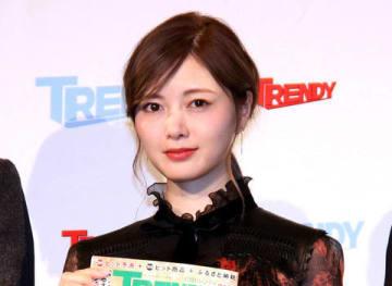 月刊情報誌「日経トレンディ」が選ぶ「2018年ヒット商品ベスト30」発表会に登場した白石麻衣さん