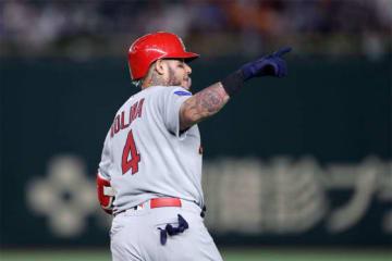 3点本塁打を放ったモリーナ【写真:Getty Images】