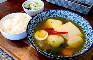 グランプリに選ばれた、たまご家おかんの「島豆腐スープカレー」