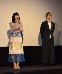 桜井さん、平野さん舞台あいさつ
