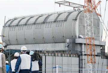 東京電力福島第1原発3号機の原子炉建屋=2月、福島県大熊町