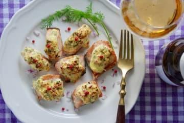 おつまみレシピ 鮭のハーブマヨ焼き