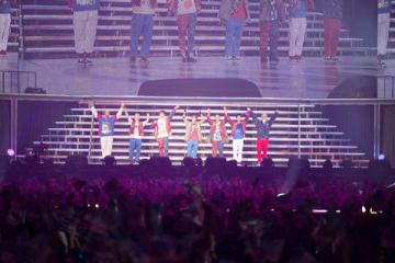 WOWOWの番組「GENERATIONS LIVE TOUR 2018 UNITED JOURNEY」のワンシーン=WOWOW提供
