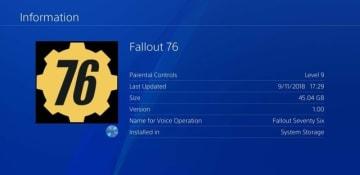海外PS4版『Fallout 76』Day1アップデート容量は51GBと判明―海外メディア報道