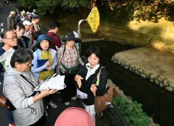 江戸期の運河、歩いて学ぶ 堀川フットパスおりお編 折り返し4キロ、難所「吉田車返し」など探訪 [福岡県]