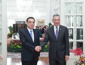 李克強総理、シンガポールのリー·シェンロン首相と会談