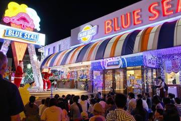 クリスマス向け電飾点灯式開催 ブルーシール本店