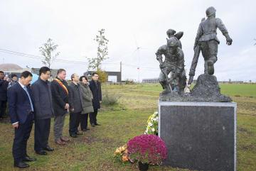 第1次世界大戦時の中国人労働者を追悼 在ベルギー中国大使館