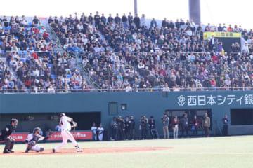 延べ5536人の観衆がタマスタ筑後のスタンドを埋めた【写真:福谷佑介】