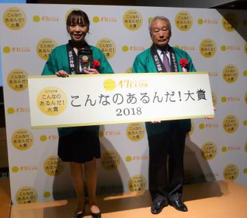 大賞を獲得したエイチケイ商会の内藤靖史会長(右)と同社の谷口三作子さん