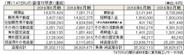(株)TATERUの貸借対照表(連結)