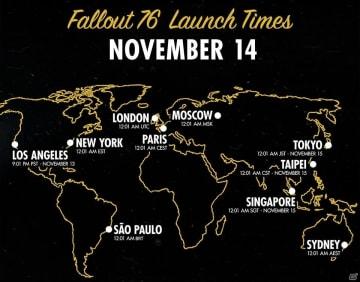 「Fallout 76」の国内プレイ開始時刻が決定!日本時間11月15日午前0時1分よりスタート!