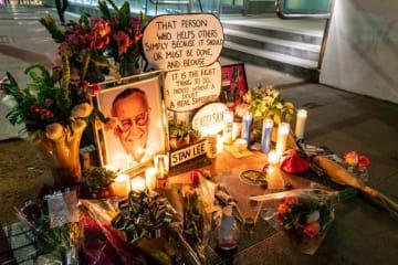 アメリカ本国のファンによるスタン・リーさん追悼(C) Getty Images
