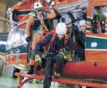 山岳遭難救助を想定 富山で訓練