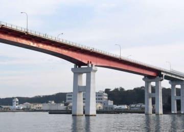 島西部の再整備に合わせ、無料になる城ケ島大橋