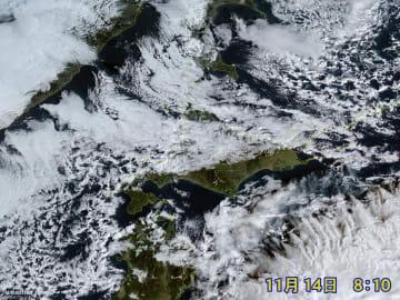 午前8時10分現在の衛星画像