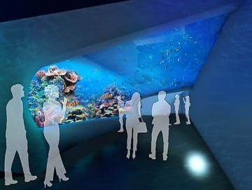 DMM RESORTSが2020年4月に開業を予定している「DMMかりゆし水族館」のイメージ図(同社提供)