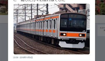 常磐線209系1000番台が、オレンジ帯で中央線系統に!? Twitter投稿続々【動画/画像】