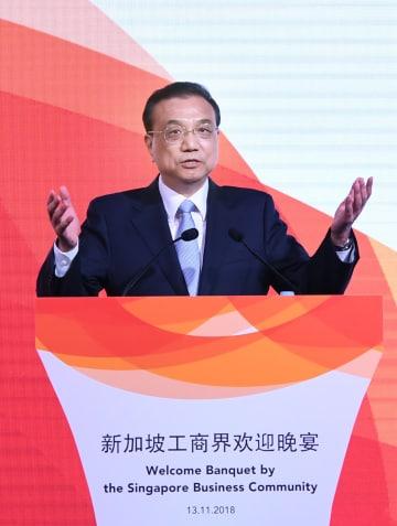 李克強総理、シンガポール商工業界主催のレセプションに出席