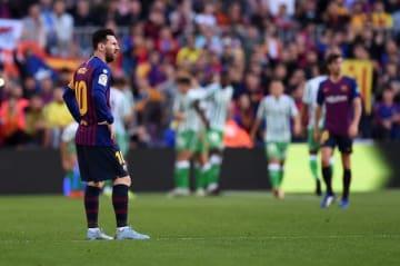 レアル・ベティス相手には4失点したバルセロナ photo/Getty Images