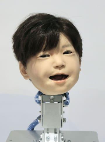 大阪大のチームが公開した子ども型アンドロイド「アフェット」の頭部=14日午後
