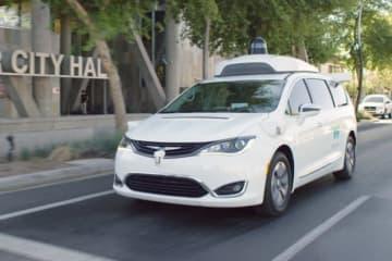 公道で試験運転中のウェイモの自動運転車。(画像: WAYMOの発表資料より)