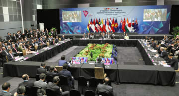 シンガポールで開かれたRCEP首脳会合=14日(代表撮影・共同)